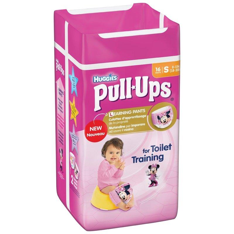 Chilotei de tranzitie Huggies Pull-Ups masura 4/S Girl 16 buc 8-15 kg
