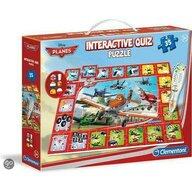 Clementoni - Puzzle personaje Disney Planes Interactiv Puzzle Copii, piese 35