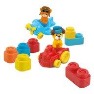 Clementoni - Set de constructie Primele mele vehicule Cuburi in plasa