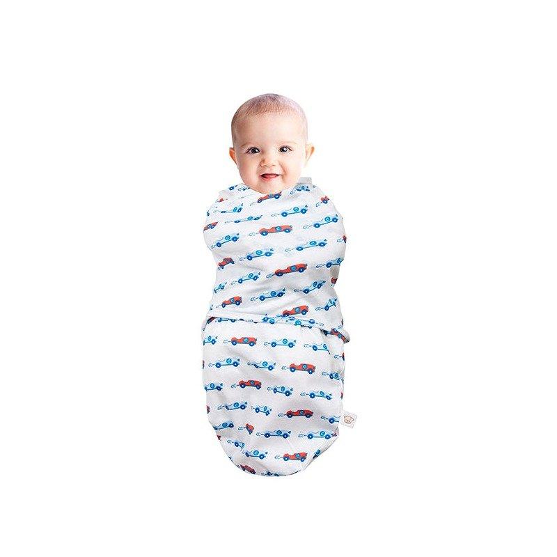 Sistem de infasare pentru bebelusi 0-3 luni blue Clevamama