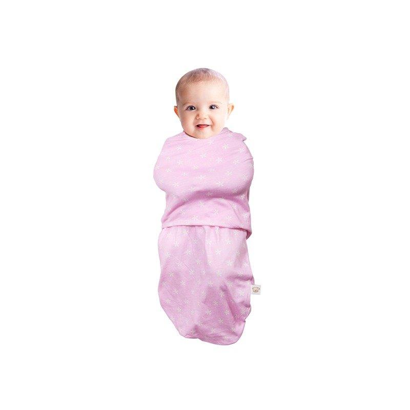 Sistem de infasare pentru bebelusi 0-3 luni roz Clevamama
