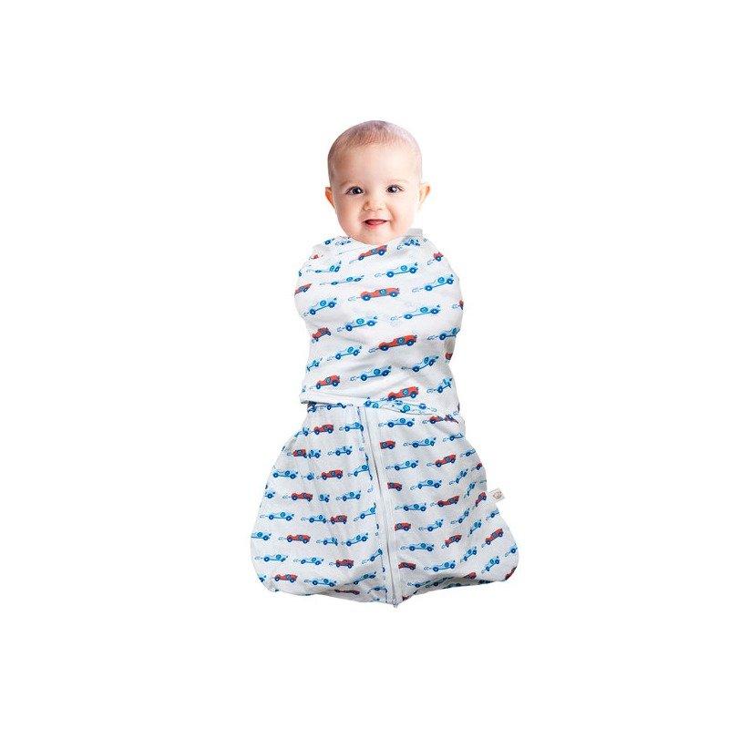 Sistem de infasare pentru bebelusi 3 in 1 blue 3-6 luni Clevamama din categoria Saltele si accesorii infasat de la Clevamama