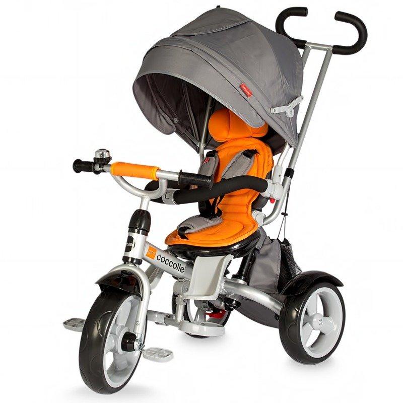 Tricicleta COCCOLLE Giro multifunctionala portocaliu din categoria Triciclete si Trotinete pentru copii de la Coccolle