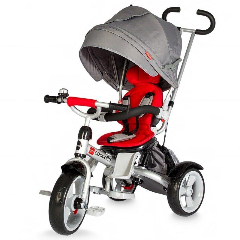 Tricicleta COCCOLLE Giro multifunctionala rosu din categoria Triciclete si Trotinete pentru copii de la Coccolle