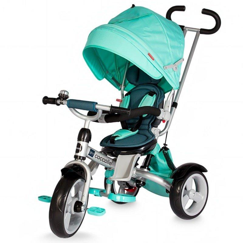 Tricicleta COCCOLLE Giro multifunctionala verde din categoria Triciclete si Trotinete pentru copii de la Coccolle