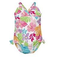 Iplay - Costum de baie fetita cu scutec inot integrat, 18 luni, SPF50+, Multicolor
