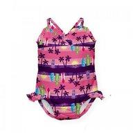 Iplay - Costum de baie fetita cu scutec inot integrat, 12 luni, SPF50+, Sunset