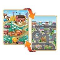 Prince Lionheart - Covoras de joaca cu doua fete pentru copii City, Farm