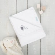 CuddleCo. - Paturica pufoasa din fleece 90x70 cm Comfi Love Owl