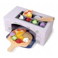 Ecotoys - Cuptor pizza Cu accesorii pentru bucatarie, Cu alimente