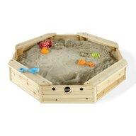 Plum - Cutie de nisip Treasure Beach Hexagonala din Lemn