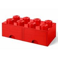 Lego - Cutie depozitare 2x4 Cu sertare  Rosu