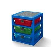 Cutie depozitare Cu trei sertare, Albastru