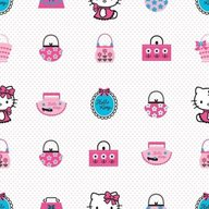 Decofun - Rola tapet 10 x 0,52m Hello Kitty Fashion