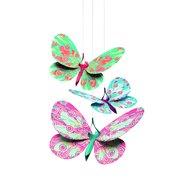 Djeco - Decoratie camera copil, Fluturi sclipitori