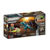 Playmobil - Set de constructie Deinonychus - Gata de lupta , Dino Rise