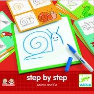 Djeco - Deseneaza pas cu pas, animale & co