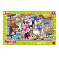 Dino - Toys - Puzzle Minnie si Daisy la plimbare 15 piese