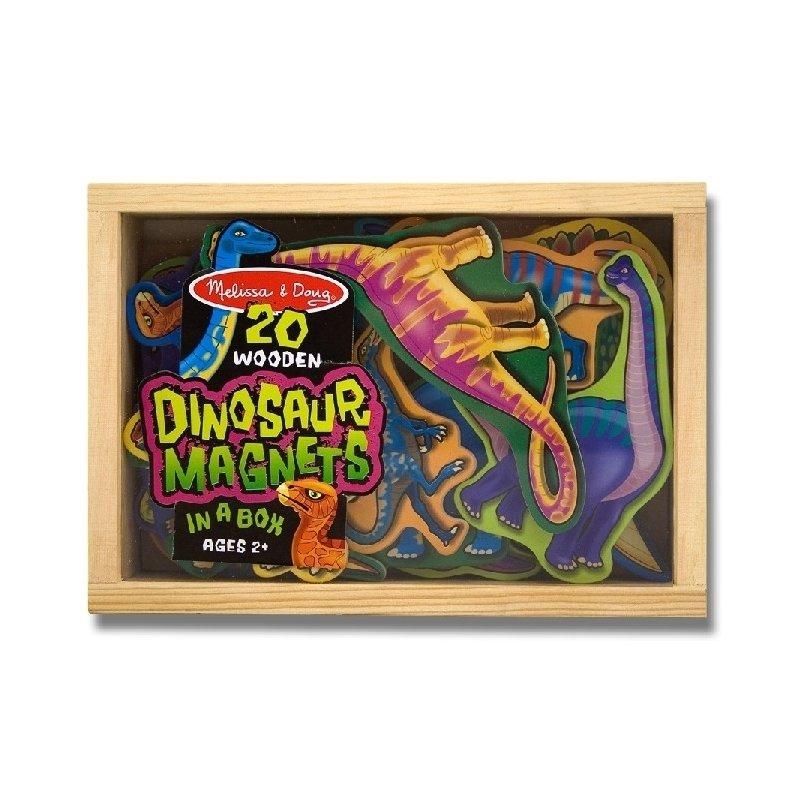 Dinozauri din lemn cu magneti Melissa and Doug din categoria Jucarii de lemn de la Melissa & Doug
