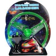 UP Int'l - Jucarie interactiva Disc zburator luminos 25 cm, Cu dispozitiv de lansare