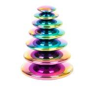 Commotion - Jucarie pentru sortat si stivuit Discuri senzoriale reflective Cu explozie de culori