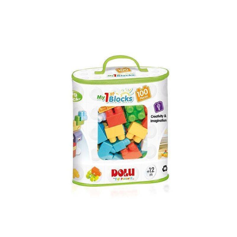 DOLU Primele cuburi de construit – 100 piese din categoria Seturi constructii si cuburi de la DOLU