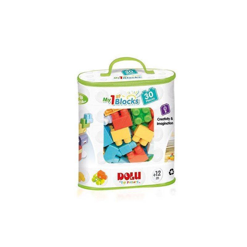 DOLU Primele cuburi de construit – 30 piese din categoria Seturi constructii si cuburi de la DOLU