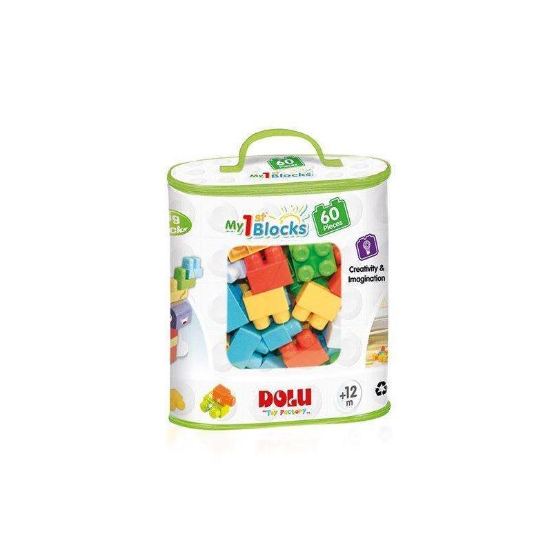 DOLU Primele cuburi de construit – 60 piese din categoria Seturi constructii si cuburi de la DOLU