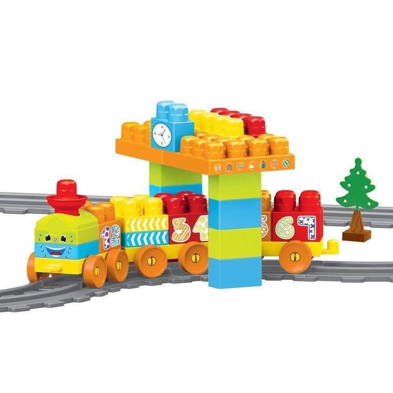 DOLU Set de constructii cu trenulet - 58 piese din categoria Seturi constructii si cuburi de la DOLU