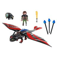 Playmobil - Set de constructie Cursa dragonilor - Hiccup si Toothless , Dragons