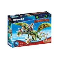 Playmobil - Set de constructie Cursa dragonilor - Raffnut si Tuffnut , Dragons , Cu Barf si Belch