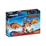 Playmobil - Set de constructie Cursa dragonilor - Snotlout si Hookfang , Dragons