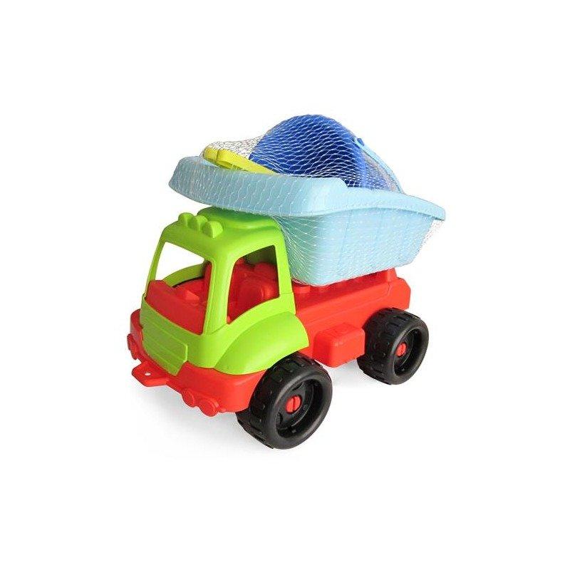 Ecoiffier Camion cu set pentru nisip din categoria Plaja apa si nisip de la Ecoiffier