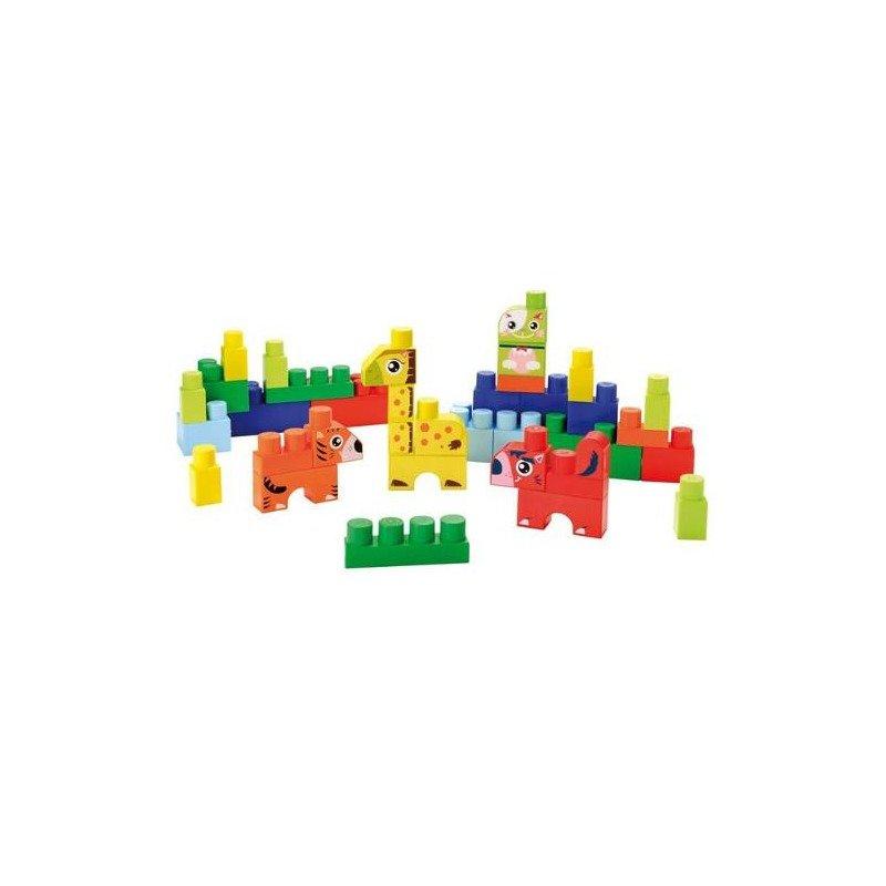 Ecoiffier Set Constructii cu animalute Abrick din categoria Seturi constructii si cuburi de la Ecoiffier