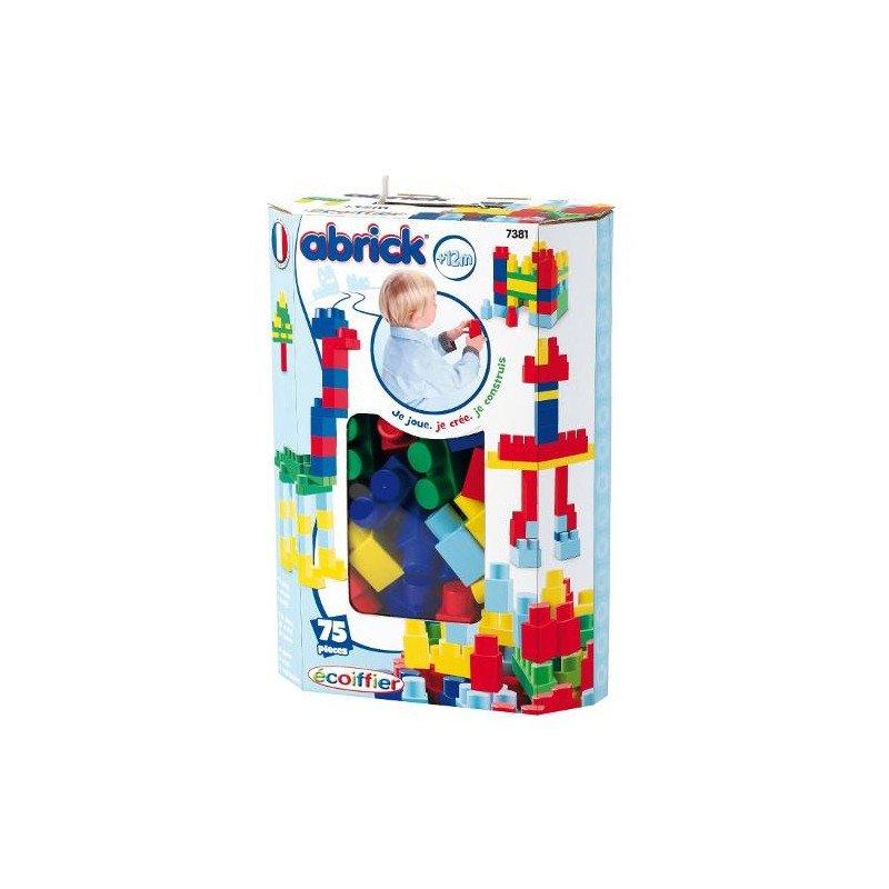 Ecoiffier Set Cuburi Abrick 75 piese din categoria Seturi constructii si cuburi de la Ecoiffier