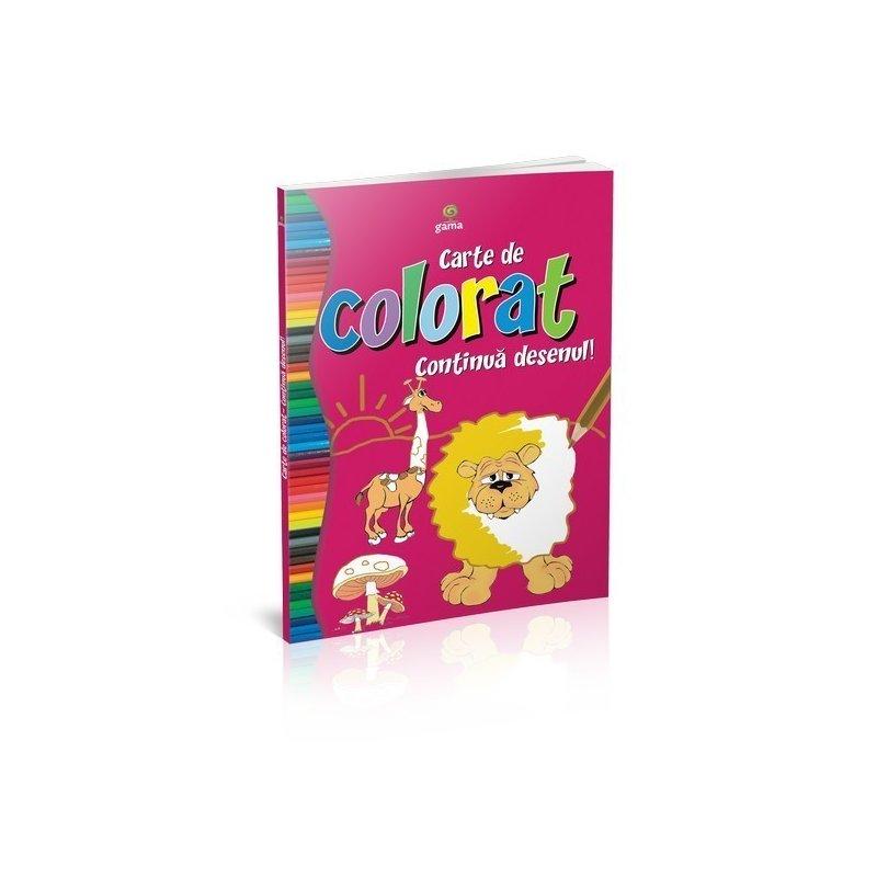 Editura Gama Carte de colorat continuă desenul din categoria Carti de colorat de la Editura Gama