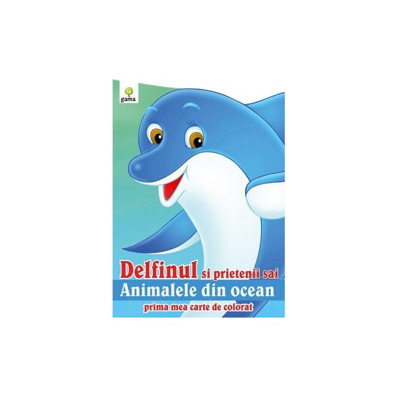 Editura Gama Delfinul şi prietenii săi din categoria Carti de colorat de la Editura Gama