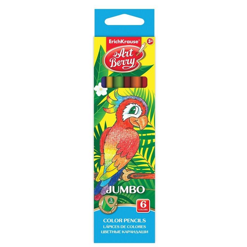 ErichKrause Set 6 creioane colorate Jumbo