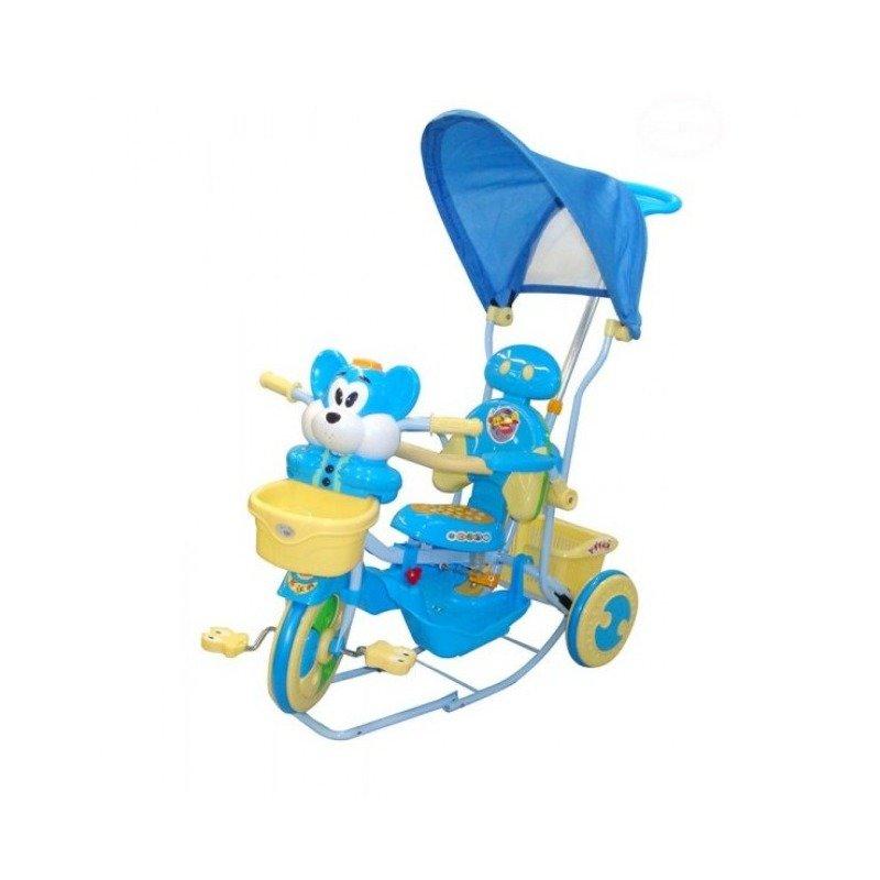 EURObaby Tricicleta EURObaby 2830AC - Albstru