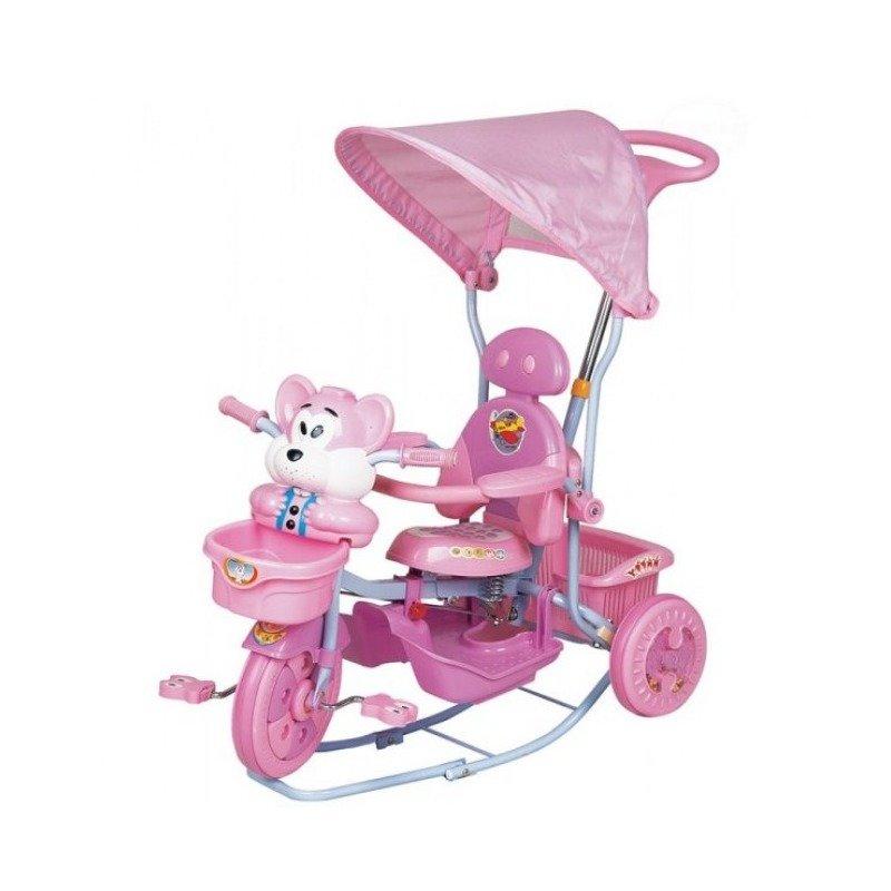 EURObaby Tricicleta EURObaby 2830AC – Roz din categoria Triciclete si Trotinete pentru copii de la EuroBaby