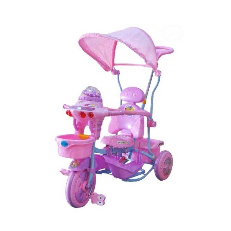 EURObaby Tricicleta EURObaby 2890AC – Roz din categoria Triciclete si Trotinete pentru copii de la EuroBaby