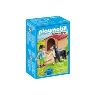 Playmobil - Fetita cu catel si cusca