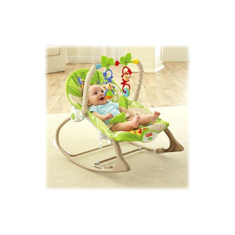 Fisher-Price Balansoar 2 in 1 Infant to Toddler Rainforest Friends din categoria Balansoare si fotolii de la Fisher-Price