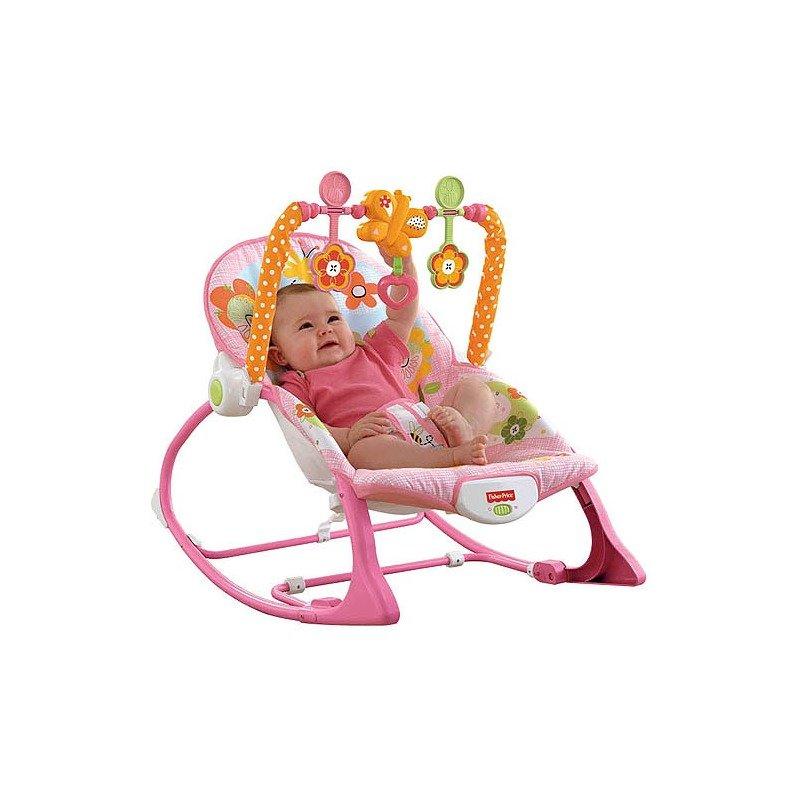 Fisher-Price Balansoar 2 in 1 Infant to Todler Pink din categoria Balansoare si fotolii de la Fisher-Price