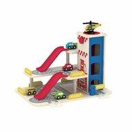 Smily Play - Garaj Cu lift mobil din Lemn