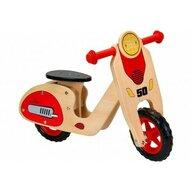 Globo - Bicicleta fara pedale din lemn Legnoland 37723 pentru copii model Retro Scooter