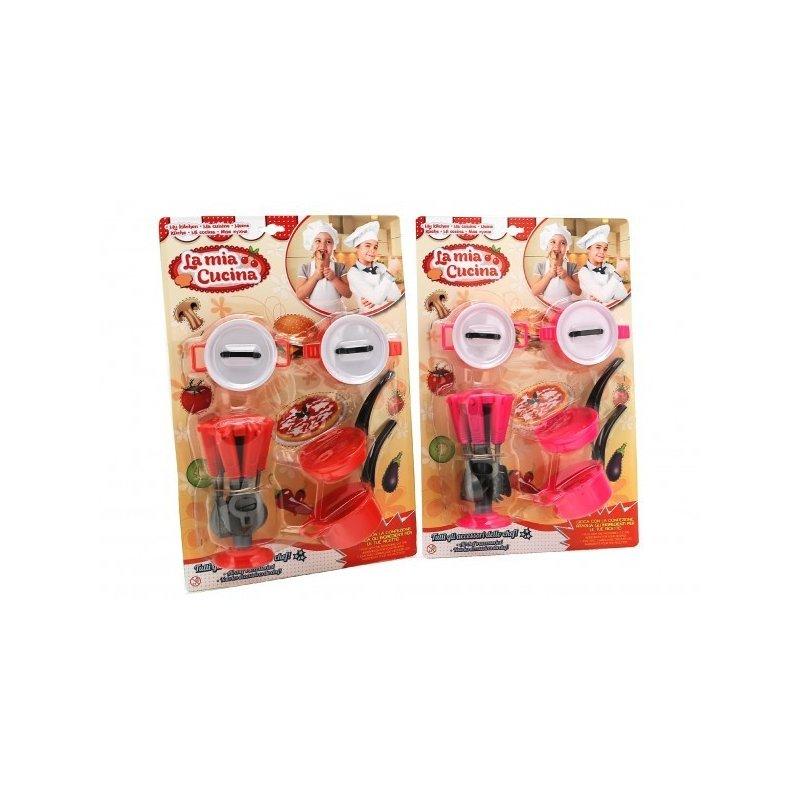 Globo Cuccina Set accesorii bucatarie cu oale si tigai din categoria Diverse jucarii de la Globo Cuccina
