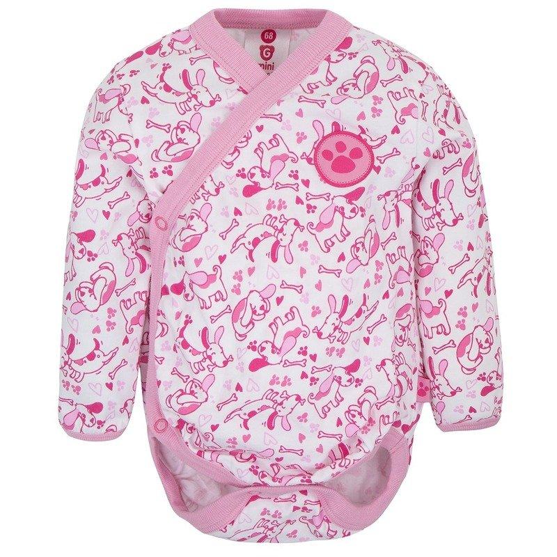 Gmini Body cu maneca lunga Prima Extra Pink din categoria Body de la Gmini