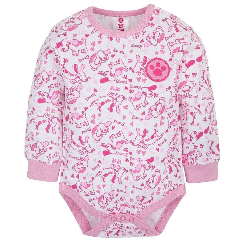 Gmini Body cu maneca lunga Prima Pink