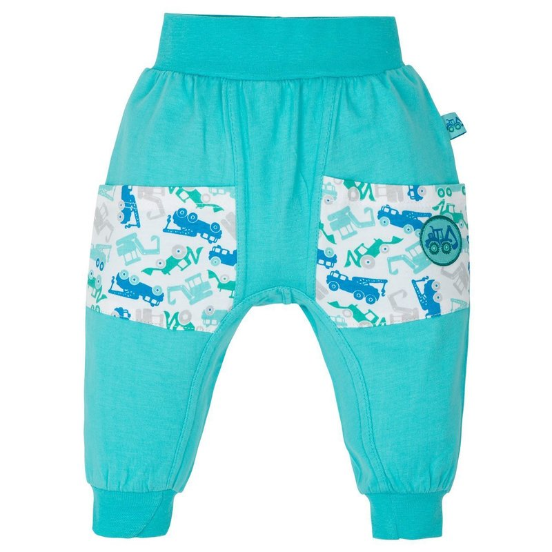 Gmini Pantalonasi pentru bebelusi Blue Excavator